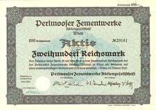 Aktie Perlmooser Zementwerke AG 200 RM 1940 Wien