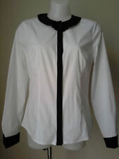 Nylon Long Sleeve Button Down Shirt Machine Washable Tops & Blouses for Women