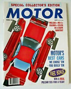 Modern Motor March 1992 - BUILD MOTORS BEST CARS INSERT -  FREE INSERT INTACT