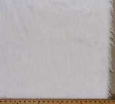 White Long Hair Bridal Fur Fabric by the Yard A614.05