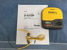 Sony Sports Discman ESP D-421SP With Original Headphones Model MDR-W07 VGUC