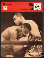 JOE LOUIS Boxing Champ Boxer vs Ezzard Charles 1978 SPORTSCASTER CARD 50-06