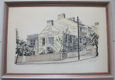 K. Dural~original ink & painted~Goodhope Street, Paddington,NSW~1970