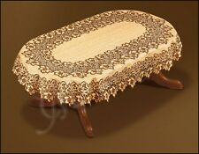 "Oval dark brown/russet lace Tablecloth NEW 130cm x180cm (51""x71"") perfect gift"