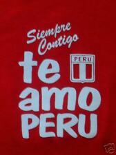 """Wunderschönes PERU T-Shirt """"TE AMO PERU"""" - ROT - Gr. XL"""