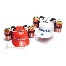 Thirst Aid Helmet Holds 2 Cans Drinks Alcohol Gift Novelty Adult Cheeky