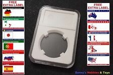 1 x New High Quality Coin Slab Holder (33mm) Display Case with Free Extra Label