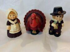 New ListingVintage Hallmark Merry Miniatures Thanksgiving Pilgrim Boy & Girl Turkey