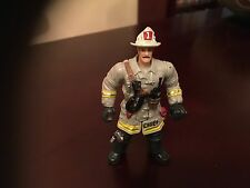 """FIRE CHIEF 4"""" ACTION FIGURE BY CHAP MEI IN GREY VGCC"""