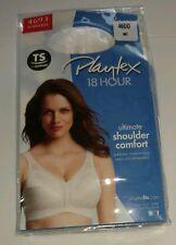 Playtex 18-hour bra 46dd ultimate shoulder comfort White