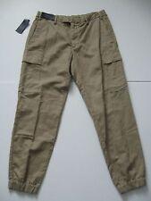 POLO RALPH LAUREN Men's Khaki Straight-Fit Linen/Cotton Cargo Jogger Pants 36x30