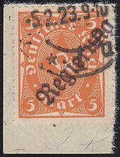 DR Dienstmarke Wiesbaden Mi.Nr. 5 II a gestempelt geprüft BPP Mi.Wert 75€ (6742)