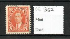 Canada 1937/38 8c orange SG362 fine used