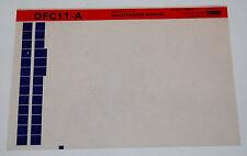 DEC DFC11-A Converter Clock Maintenance Manual, Microfiche