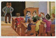 Chats humanisés . Ecole . Dressed cats . katze . Gato . 貓 . 猫