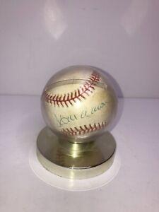 Hank Aaron Signed Leonard Coleman NL Rawlings Official Baseball National League