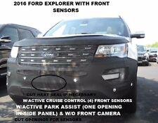 Lebra Front End Mask Cover Bra Fits 2016-2017 Ford Explorer w/ Front Sensors