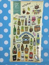 Beer Wine Drinks Party Paper Stickers love Scrapbook diary Cardmaking art