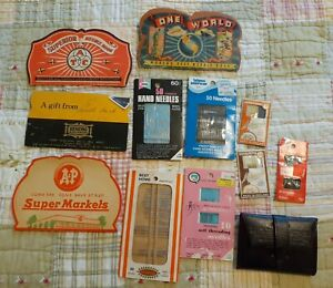 Lot Of Vintage Sewing Needles Packages Advertising A&P Crowley's