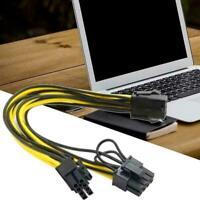 PCI-E 6-pin To 2x 6+2-pin 6-pin/8-pin Graphics Power PCIE/PCI Express Cord F0O1