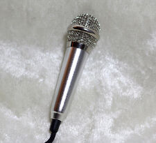 1/3 1/4 Miniature mini microphone mic BJD SD doll prop music instrument Silver