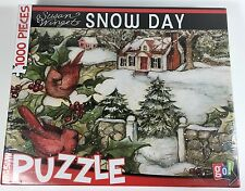 Susan Winget Snow Day 1000 Piece Puzzle by Go! Games Factory Sealed