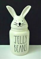 "Rae Dunn Magenta ""JELLY BEANS"" Canister With Bunny Easter/Spring NEW"