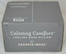 Sharper Image Calming Comfort Cooling Knee Pillow Charcoal Memory Foam - New
