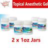 2 Pack, Mark3 Dental Topical Anesthetic Gel 20% Benzocaine, 2 x 1 oz Jars