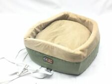 K&H Manufacturing Thermo-Kitty Heated Pet Bed, Sage, Large