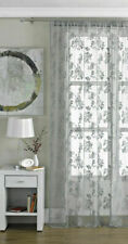 Vintage Style Lace Floral Net Voile Conservatory Bedroom Curtain Panel Slot Top