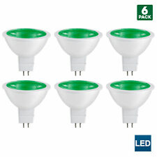 Sunlite MR16 Green LED Bulb, 12 Volt, 3W, GU5.3 Base, 25W Equivalent (6 Pack)
