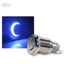 Edelstahl Drucktaster, Taster, Klingeltaster, Klingelknopf, LED beleuchtet blau