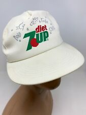 Vtg k-products Diet 7 Up Embroidered Trucker SnapBack Hat Cap USA Made
