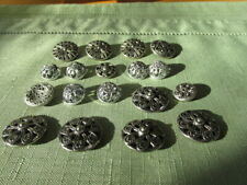 Lot of 18 Vintage Mirror Like buttons. Some lg. some smaller