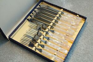 Fish Knife And Fork Cutlery Set- Mother Of Pearl Handles