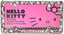 Hello Kitty License Plate Frame Car Truck Girls Pink Cat Decoration Vehicle New