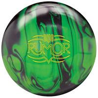 DV8 Rumor 1st Quality Bowling Ball, Black/Neon Green, 15 Pounds
