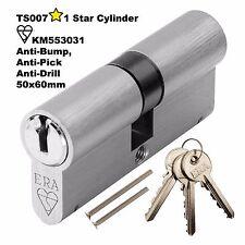 Euro CYLINDER CILINDRO porta serratura 110mm ANTI PICK rugosità Kitemarked sicurezza 50 x 60