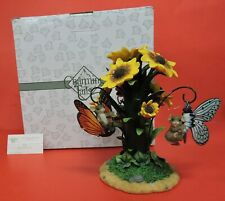 Fitz Floyd Charming Tails Daisy Displayer & Butterfly Ornaments Figurine 98/283