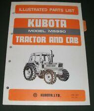 Kubota M5950 Tractor Amp Cab Parts Manual Book Catalog Oem Original