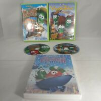 VeggieTales DVD Lot of 3 River Rescue Easter Carol Lord of the Beans