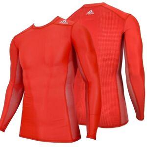 Adidas Techfit Children Compression Shirt Long Pull Under Sports Football Top