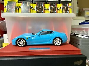 1/18 BBR FERRARI 599 BABY BLUE on Red Deluxe Leather #03/20 n MR MINT❗️S/O❗️
