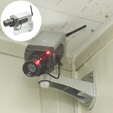 Dummy CCTV Camera Motion Detection Sensor Motorized Pan Movement Blinking LED HU
