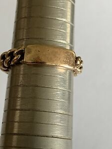 Lovely Unusual Vintage 9ct Rose Gold Curb link Ring