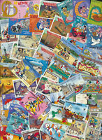 Walt Disney Mint Stamp Collection 100 Different Large Colorful Topical Cartoons
