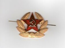 Russian Military Badge Army USSR Soviet Red Star Hat Pin Cockade worn on Cap A