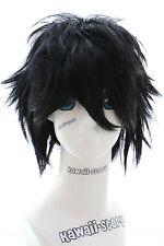 W-01-1 schwarz black kurz 35cm COSPLAY Perücke WIG Perruque Haare Anime Manga