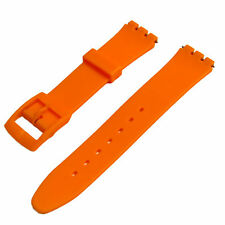 Resin Watch Strap Band to fit Standard Swatch Watch 17mm choice of colours